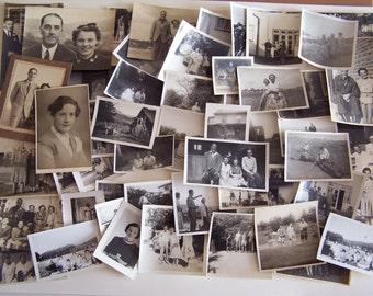 50 Vintage Photographs People & Places 1930s-1950s Fashion Clothes