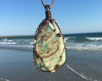 Handmade reversible wire wrapped necklace