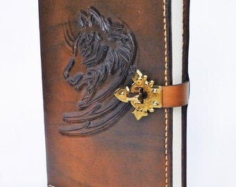 Personalizable designed handmade leather journal