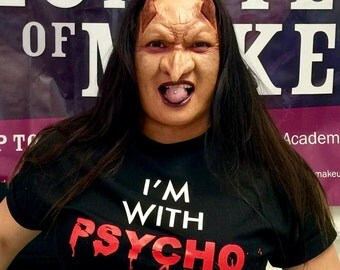 "Funny ""I'm with PSYCHO"" T-Shirts!  Sizes S, M, L, XL & XXL currently available"