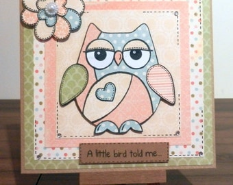 Owl Paper Pieced Card