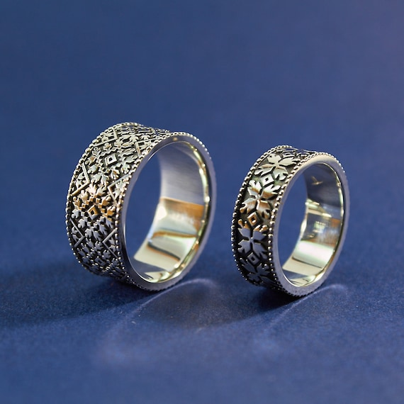 wedding rings ethnic rings ukrainian style boho jewelry