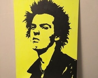 Sid Vicious 16x20 acrylic on canvas