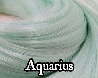 Aquarius Aqua Mint Nylon Doll Hair for Rerooting Dolls and Ponies