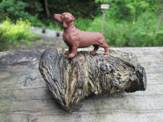 Dachshund and Driftwood Decor for your Mantle