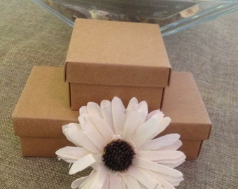 5 boxes for jewelery or sweets in kraft paper 6 cm x 6