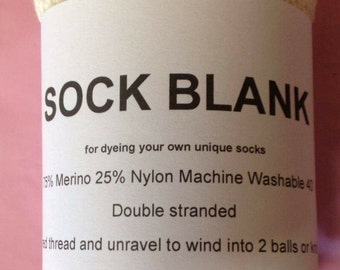 1 X Double Stranded Sock blank
