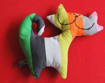 Cat plush fabric