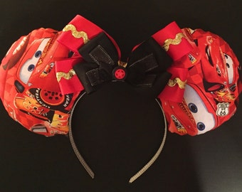 Lightning McQueen Cars Mickey Ears