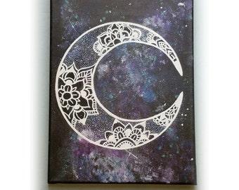 Moon Flowers Painting