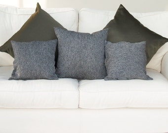 Tweed Cushion, Tweed Pillow, Scandinavian Cushion, Monochrome Cushion, Monochrome Pillow, Black Throw pillow, White Accent Cushion, Home