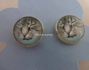 Earrings cat, earrings, earring, cat, cat, cat lovers, gift wife girlfriend sister daughter, tabby,.