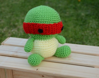 Ninja Turtles, Teenage Mutant Ninja Turtles Crochet, crochet doll, ninja turtle doll, handmade, gift, action figure with Free Shipping