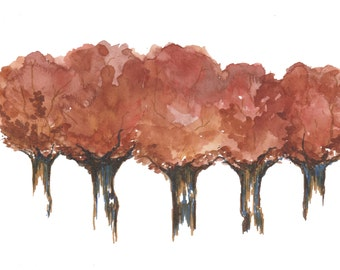 Fall Watercolor Print