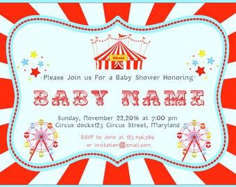 Circus Baby Shower Invitations -BSI_CCS_10