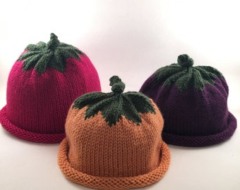 Fruit and Veggie Hats for Baby & Toddlers