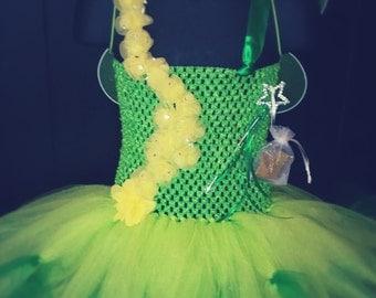 Short Green Fairy Dress Size 7/8
