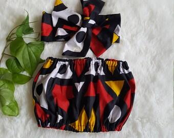 African baby top/baby top/crop top/African babygirl clothes//Headwrap/Newborn clothes/African clothing/Ankara skirt/Kente Fabric/Girl skirt/