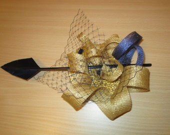 BLUE AND GOLD HEADDRESS