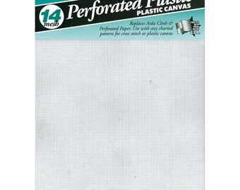"""No. 14 mesh perforated plastic canvas 8.25"""" x 11"""" - 10 sheets"""