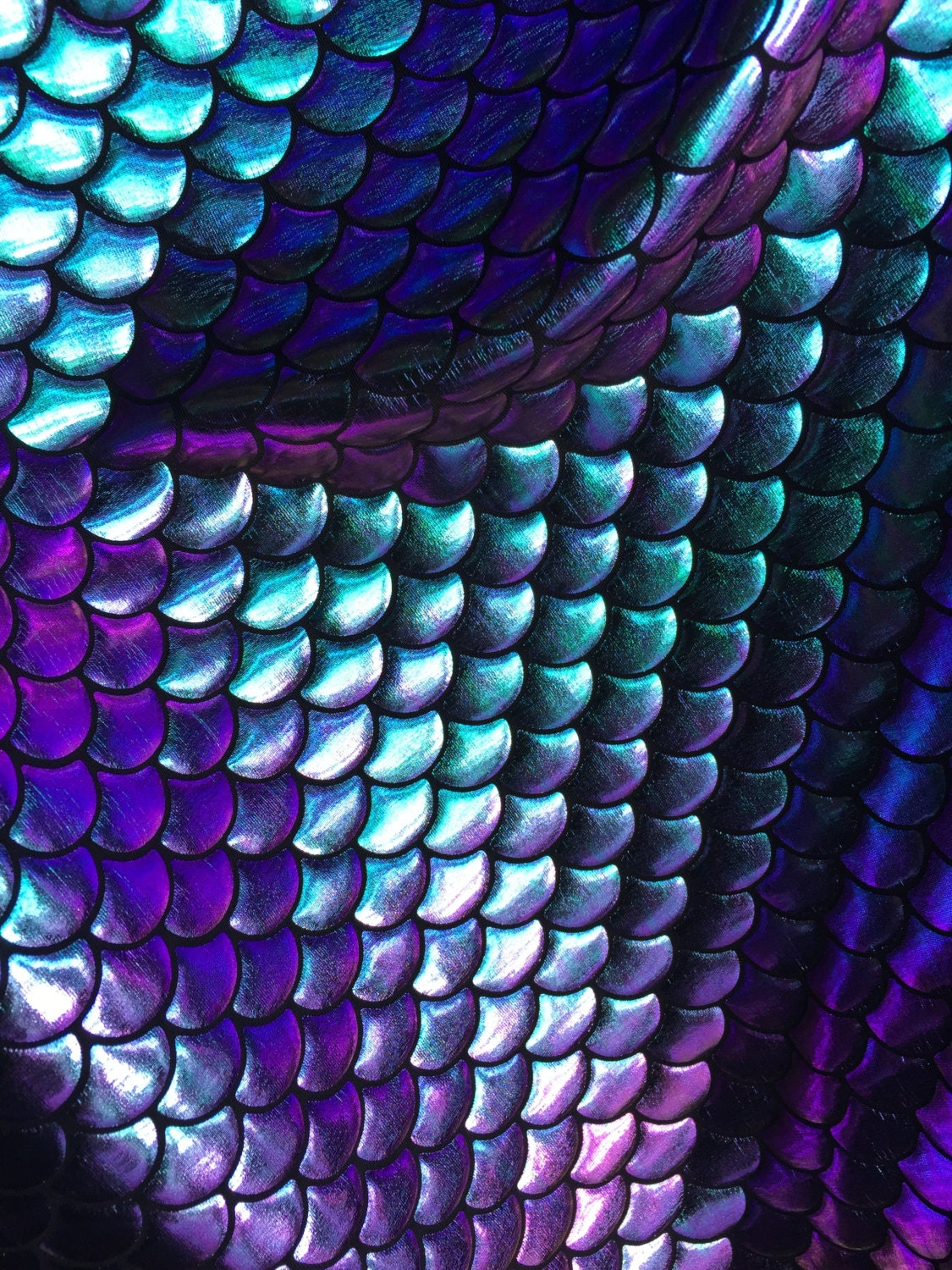 4 way stretch iridescent back in stucktwo tone mermaid fish for Fish scale fabric