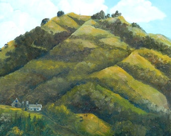 Hills Painting of hills, Hill paintings,Hill landscapes, Moraga Hill, This is a great hill-mountain like elsewhere-do you have one to paint?