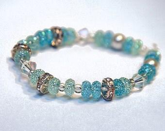 Zeraa Esther Shimmering Blue Bracelet