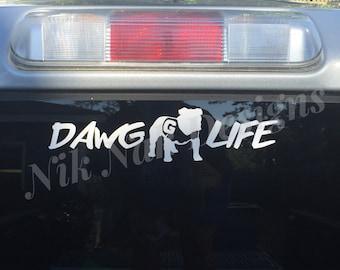 Uga Car Window Decal Etsy
