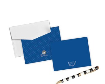 Thank You Boxed Card Set Blue