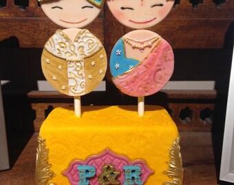 Custom-made Indian Wedding Cake Topper