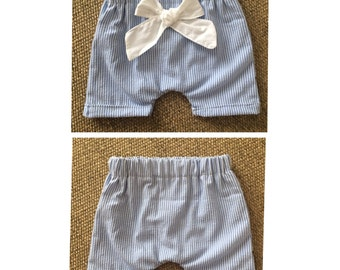 Blue striped short