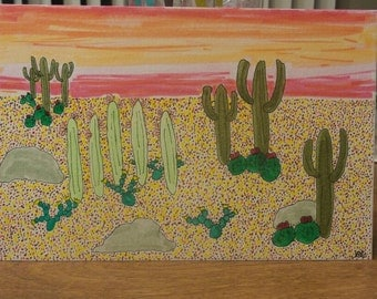Desert sunset drawing