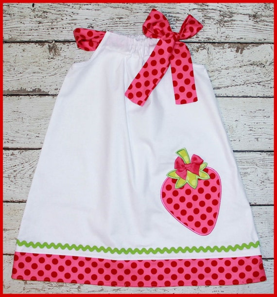 Sweet Strawberry Pillowcase style dress