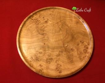 Bur Oak Wooden Tray - Handmade in UK