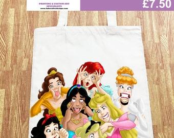 Disney Princess Funny Tote Canvas Shopper Bag