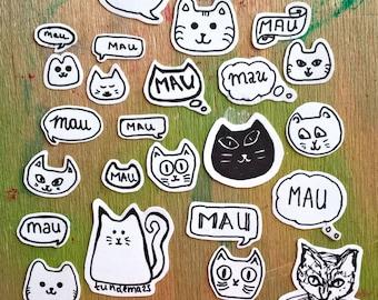 sticker set kitty cats / cicás matrica készlet
