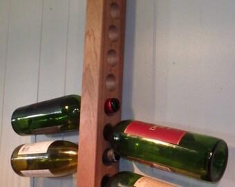 9-Bottle Mahogany Wine Rack