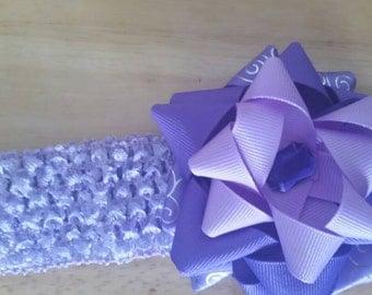 I Love Purple Baby Headband