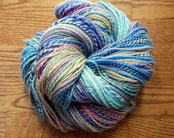 Handspun Yarn/2-ply Aran Weight/296 Yards/9 wpi/Merino Wool