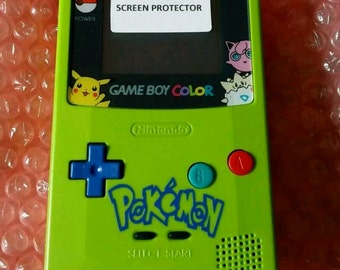 Pokemon Green & Aqua Themed Gameboy color console