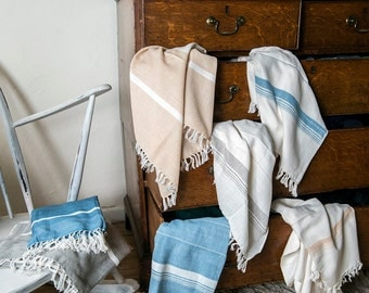 Vintage-style Organic Cotton Towels