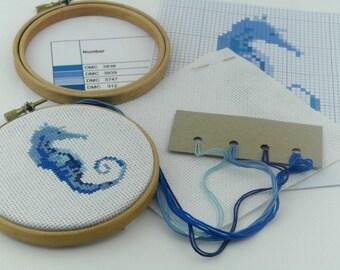 Seahorse Cross Stitch Kit
