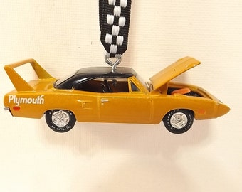 70 Plymouth Superbird - Gold Metallic - Racing Champions Opening hood  -Christmas Ornament - FREE SHIPPING