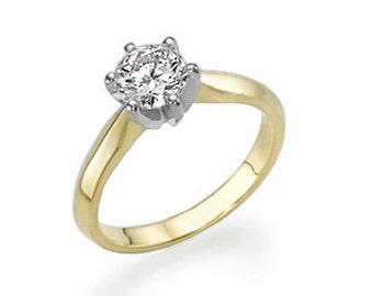 Gold 18K 4 g Center of diamond ring: 1.01 CT