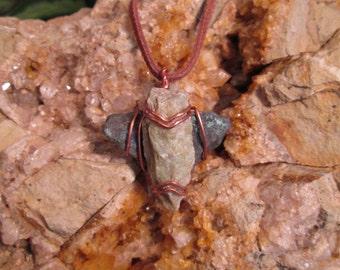 Serpentine, azurite and malachite necklace