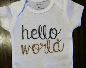 Newborn Hello World Onsie!