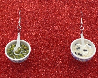 Mismatched Bowl Earrings