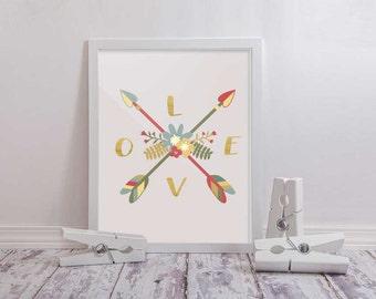 Love Arrows Print Download