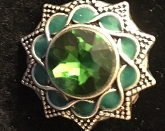 Green Snap - This snap fits all 18mm - 20mm jewelry