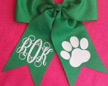 Cheer Bow with ponytail holder